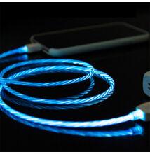 Micro USB fehér adat és töltőkábel futófénnyel