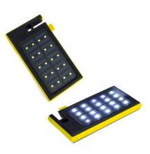 Napelemes szolár power bank LED fény Qi vezeték nélküli töltő 20000mAh W-07