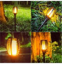 Napelemes kerti fáklya szolár lámpa