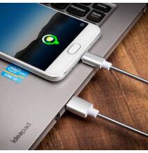 Szilikon adat és töltő kábel megtörésvédelemmel micro USB és Iphone készülékekhez