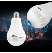 Vezeték nélküli WiFi Biztonsági Kamerás LED Izzó Panorámás CCTV
