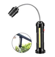 Akkumulátoros Mágneses Fémházas LED és COB Szerelő Lámpa Flexibilis Fejjel FA-3718