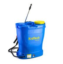 Kraftech 16 literes elektromos akkumulátoros permetező akkus háti permetezőgép
