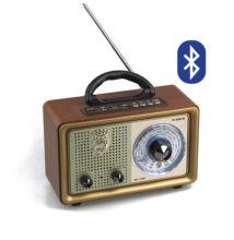 Asztali hangszóró FM rádió micro SD USB retro dizájn MK-110BT