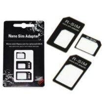 Nano és Micro SIM-kártya adapter 3in1  kiszedõ szerszámmal