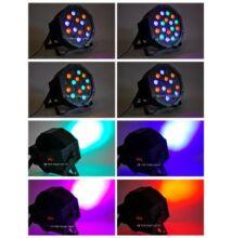 LED Disco fény 18W Diszkó Buli Világítás Ütemre Vezérelt Fénytechnika