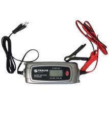 Straus Intelligens Automata Akkumulátor Töltő LCD Kijelzővel 54W 6V 2A/12V 4A ST/SBC-4A