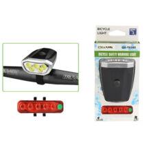 Qixun Tölthető LED bicikli kerékpár lámpa szett 5 LED QX-T0505