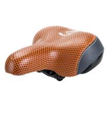Komfort rugós széles kerékpár nyereg városi bicikli ülés barna T-0592