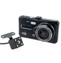 """Autós menetrögzítő kamera tolatókamerával DVR Full HD 12MP 4"""" kijelző TB2122"""