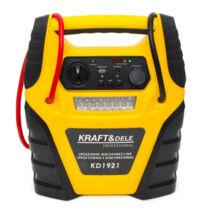KraftDele indító és töltő 5 az 1-ben multifunkciós állomás kompresszorral zseblámpával 400A KD1921