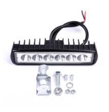 Autós LED reflektor munkalámpa 15cm 6LED 18W