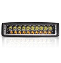 Autós LED kétszínű reflektor munkalámpa 15cm 18LED 54W