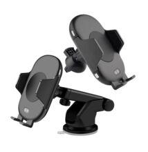 C10 autós telefontartó és vezeték nélküli Qi töltő infravörös érzékelővel
