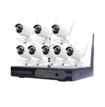 WIFI Vezeték Nélküli Biztonsági Kamera Rendszer 8 Kamerás CCTV