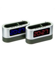 Digitális asztali ébresztőóra hőmérővel tolltartóval
