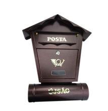 Kültéri zárható postaláda újságtartóval