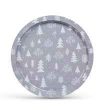 Karácsonyi fém tálca 31cm 55932G