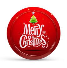 Karácsonyi fém tálca 31 cm 55932J