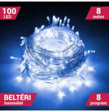 100 LED KÉK Karácsonyi Beltéri Fényfüzér