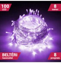 100 LED LILA Karácsonyi Beltéri Fényfüzér