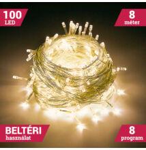 100 LED MELEG FEHÉR Karácsonyi Beltéri Fényfüzér