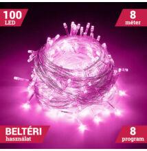 100 LED PINK Karácsonyi Beltéri Fényfüzér