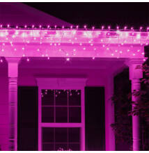 Jégcsap 180 LED Fényfüzér Pink 6,6m