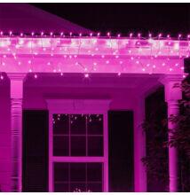 Jégcsap 180 LED Fényfüzér Pink 5m