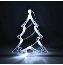 Karácsonyi LED elemes ablakdísz karácsonyfa 20cm hideg fehér