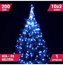 LED izzósor csokor fényhuzal 10 ágú 200LED kék