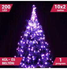LED izzósor csokor fényhuzal 10 ágú 200LED lila