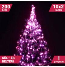 LED izzósor csokor fényhuzal 10 ágú 200LED pink