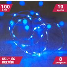 10M LED tündérfény fény huzal vízálló kék