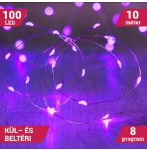 10M LED tündérfény fény huzal vízálló lila