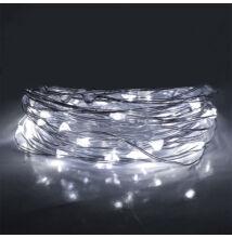 LED tündérfény fényhuzal 5m 50LED HIDEG FEHÉR