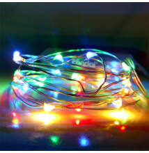 LED tündérfény fényhuzal 5m 50LED SZÍNES