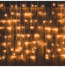 LED sorolható fényfüggöny jégcsapfüzér meleg fehér 10m DLFJ 400WW