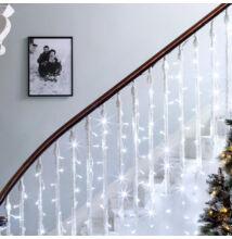 LED Fényfüggöny 2mx1,5m Hideg Fehér Függöny