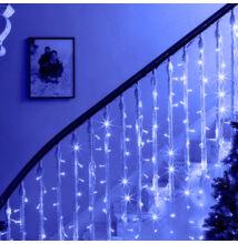 LED Fényfüggöny 2mx1,5m Kék