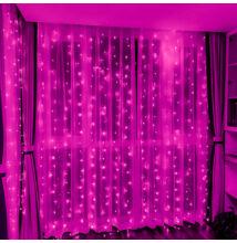 LED Fényfüggöny 2mx1,5m Pink