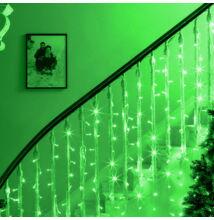 LED Fényfüggöny 2mx1,5m Zöld