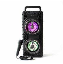 Bluetooth hordozható multimédia lejátszó karaoke mikrofonnal MP3 USB FM rádió TF BS-232