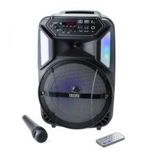 Bluetooth hordozható multimédia lejátszó karaoke mikrofonnal MP3 USB FM rádió TF ES-M-B8