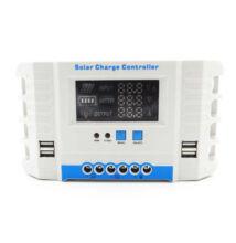 Napelem töltésvezérlő automatikus napelem akkumulátor 60A LCD kijelző USB MG2460Z