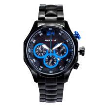 RISTOS fekete kék férfi karóra fémszíjas 45mm 93013G-B07C07