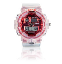 Sbao multifunkciós analóg és digitális sportóra 55mm piros-fehér S-8018-1