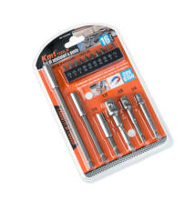 KMT Tools bit és dugókulcs csavarbehajtó adapter készlet 16 részes