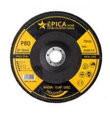 Epica Star lamellás csiszolókorong csiszolótárcsa P80 180mm EP-10466