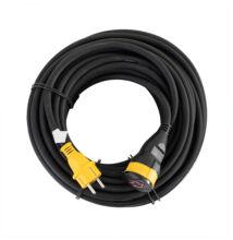 Stanley Ipari hosszabbító IP 44 kültéri gumikábeles hosszabbító lengőaljzattal 10m SXECCR91A1E
